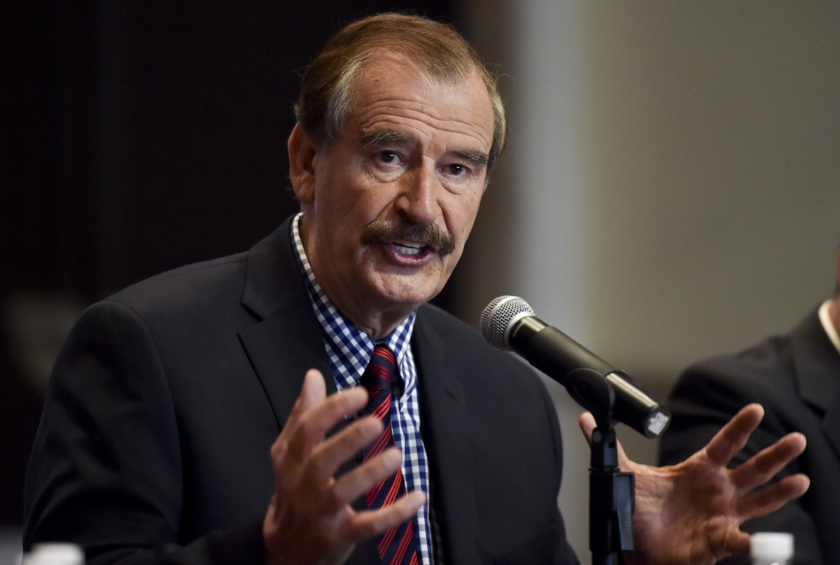 ... president Vicente Fox in f-word outburst over Donald Trump's wall
