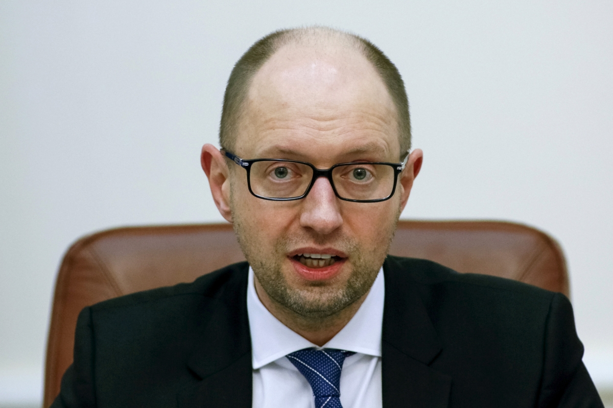 Ukraine S Prime Minister Arseny Yatseniuk Resigns During