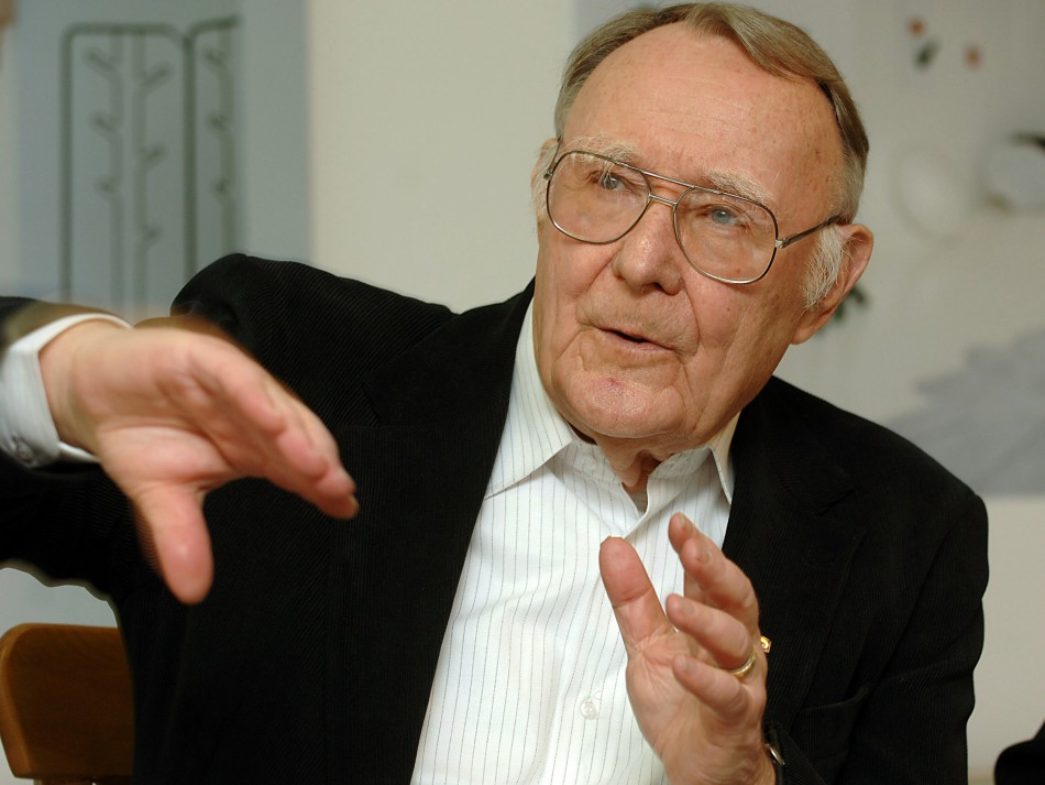 Ingvar Kamprad founded Ikea in 1943, aged 17. Reuters