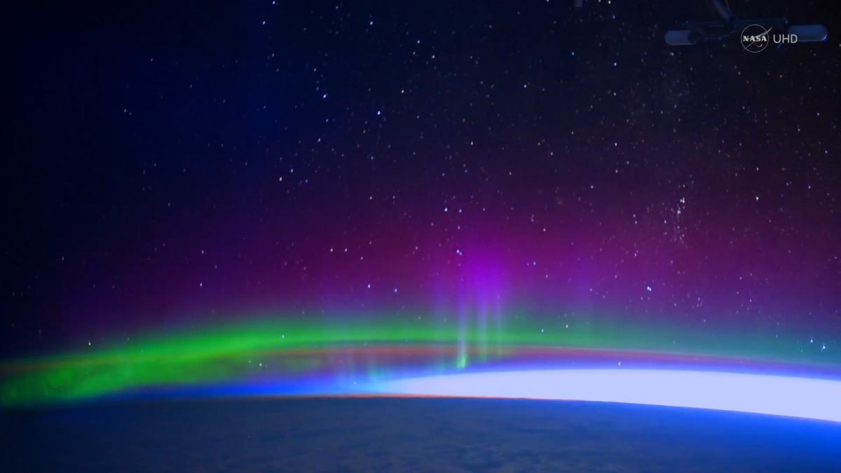 Iss astronauts capture stunning 4k footage of aurora borealis