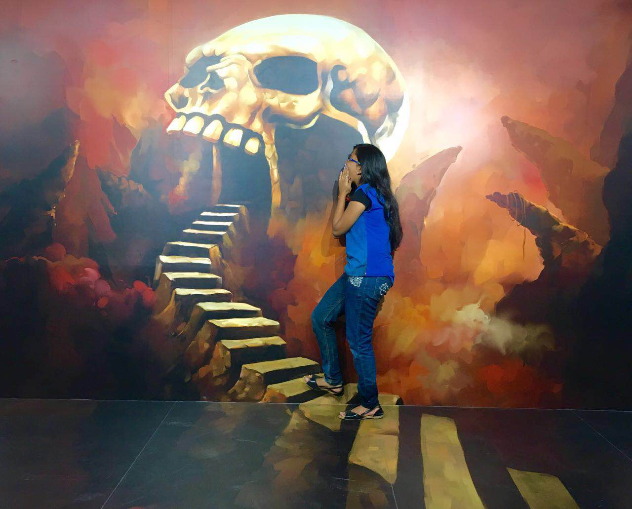 Indian 39 s first 3d museum is a magnet for art lovers for 3d mural art in india