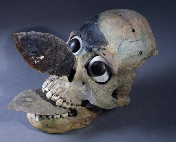 Spine-chilling Aztec skull masks in Templo Mayor were ...