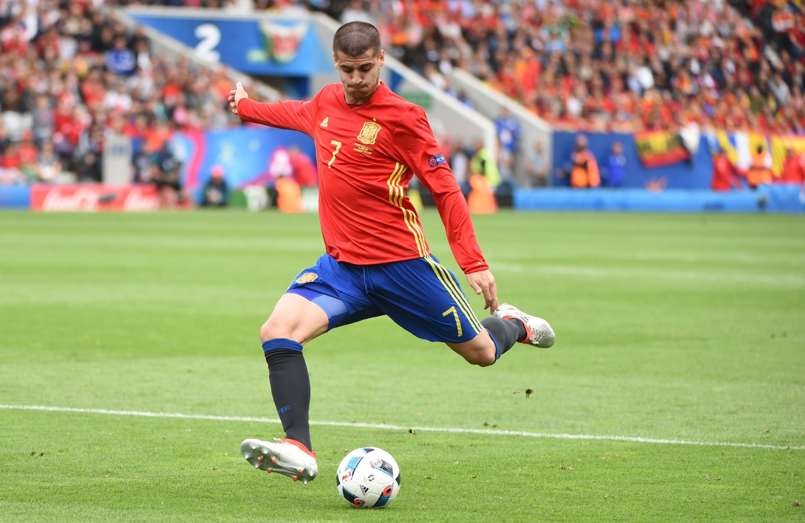 Image result for spain vs italy 2017 morata
