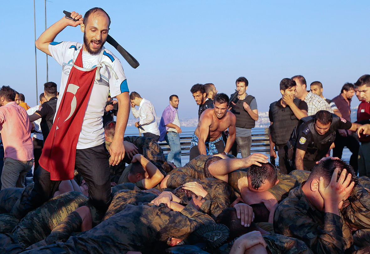 Image result for Turkish soldiers tortured in coup
