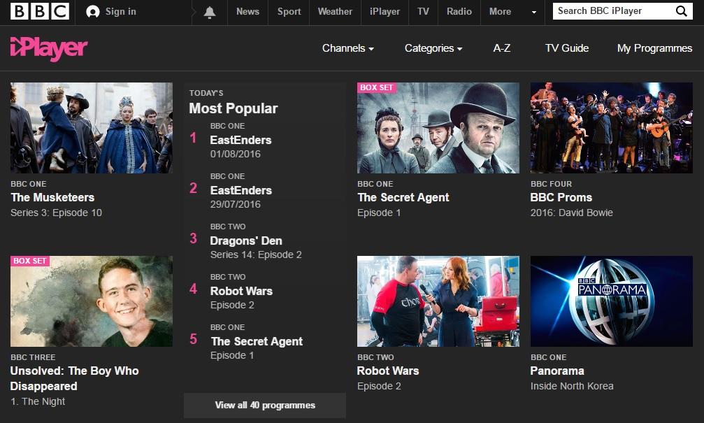 Watch BBC iPlayer outside UK