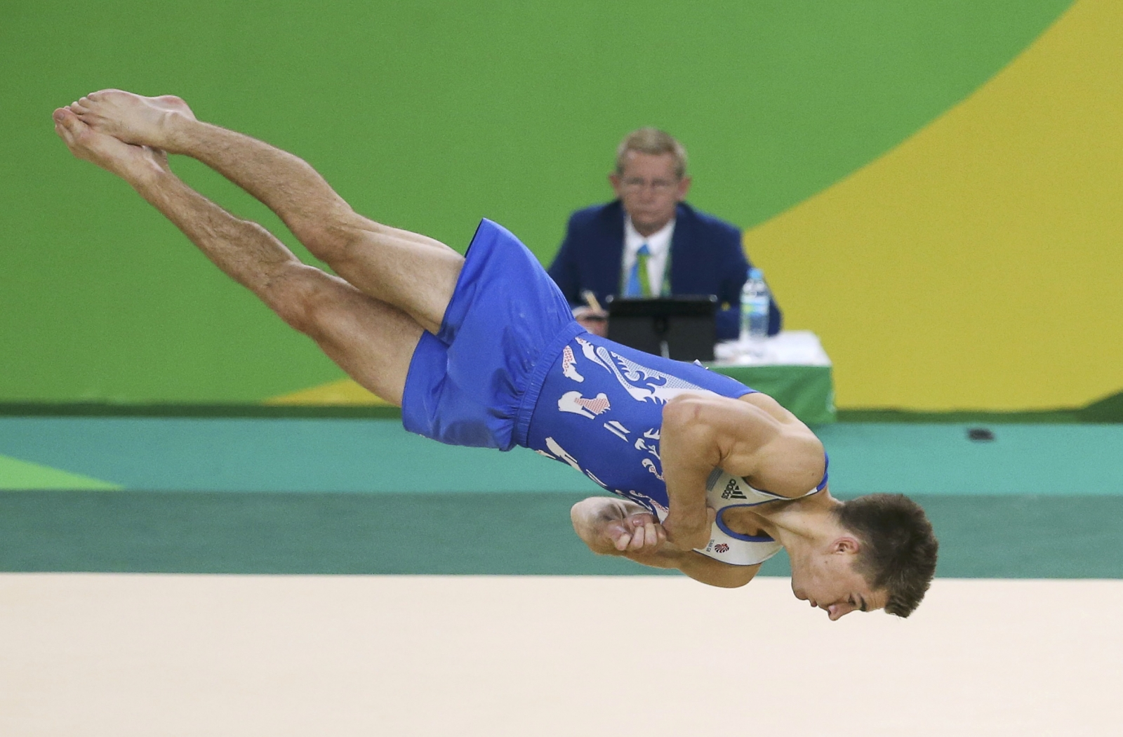 Rio 2016 olympics max whitlock wins gymnastic floor gold for Floor gymnastics