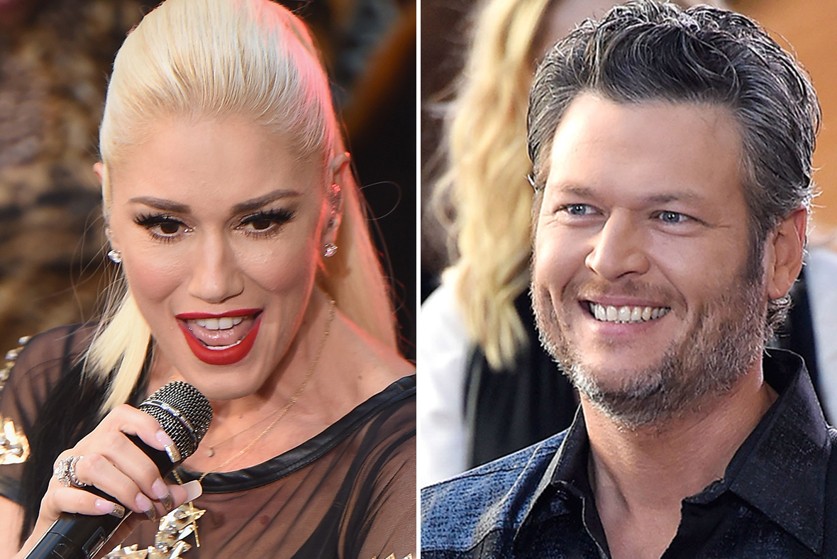 Gwen Stefani and Blake Shelton pack on the PDA during performance at charity event