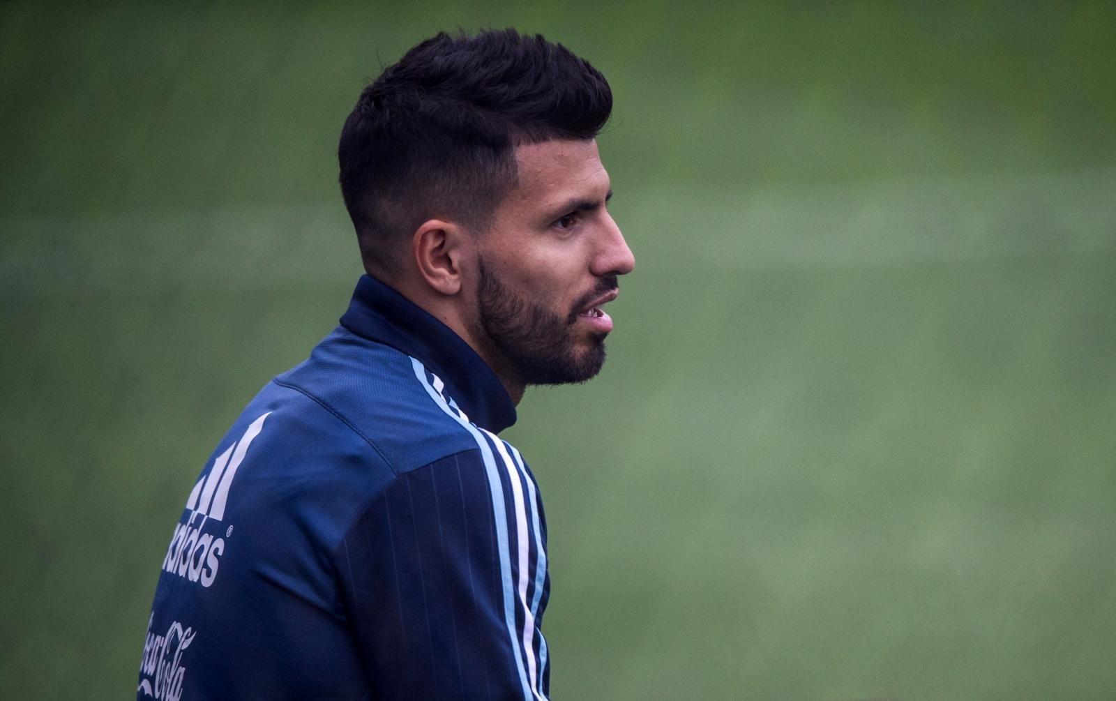 Sergio Aguero calf injury Manchester City star allays fears over