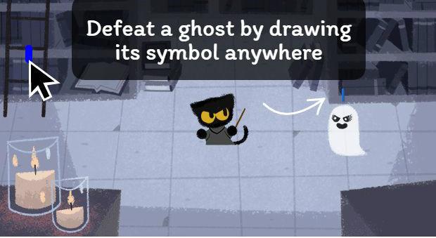 Google's Halloween doodle stars black cat called Momo