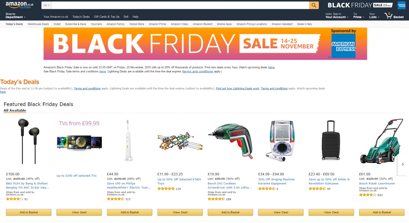 Amazon Black Friday Sales 2016 Here Are The Best Day One