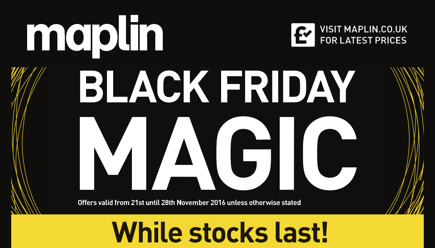 black friday 2016 here are the top maplin deals on drones speakers hard drives cameras and. Black Bedroom Furniture Sets. Home Design Ideas