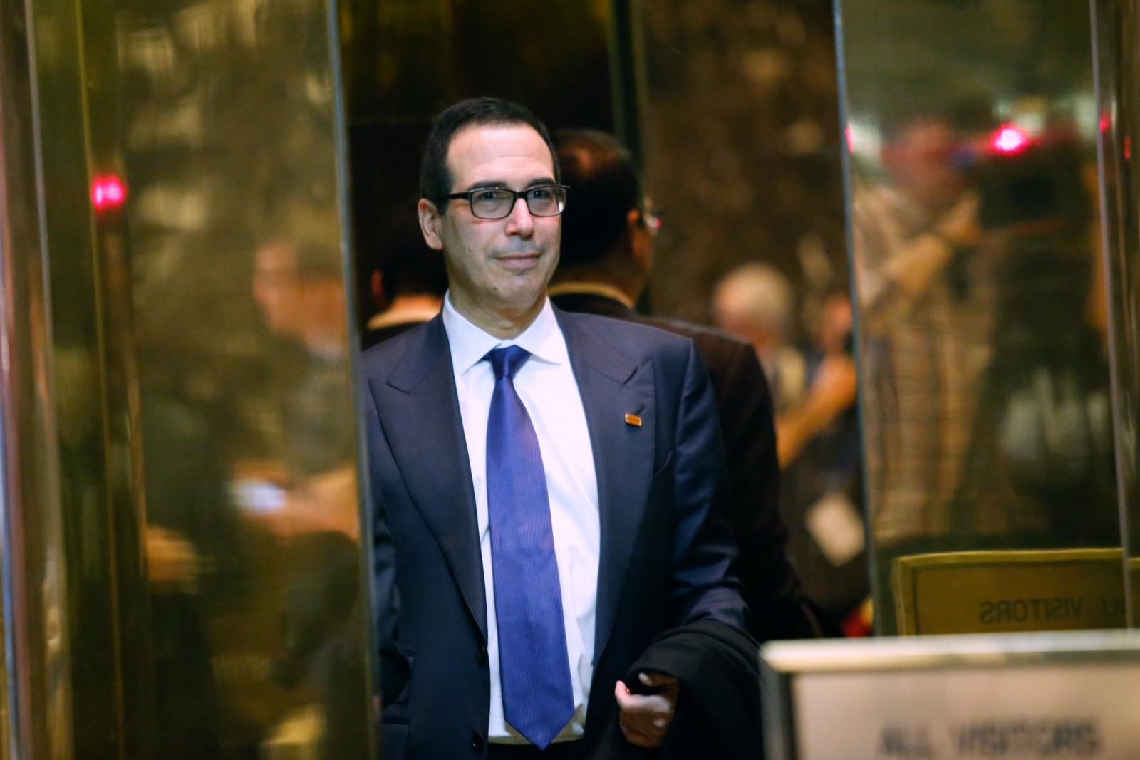 news world americas donald trump treasury secretary steven mnuchin goldman sachs hollywood