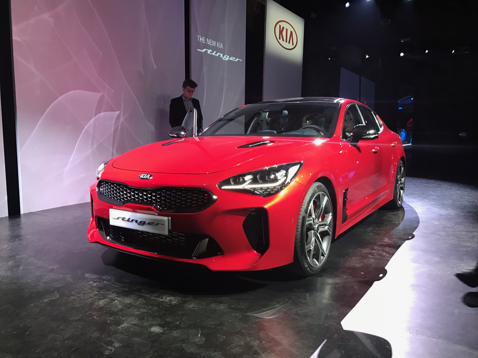 Kia Stinger GT lands in Milan at European launch