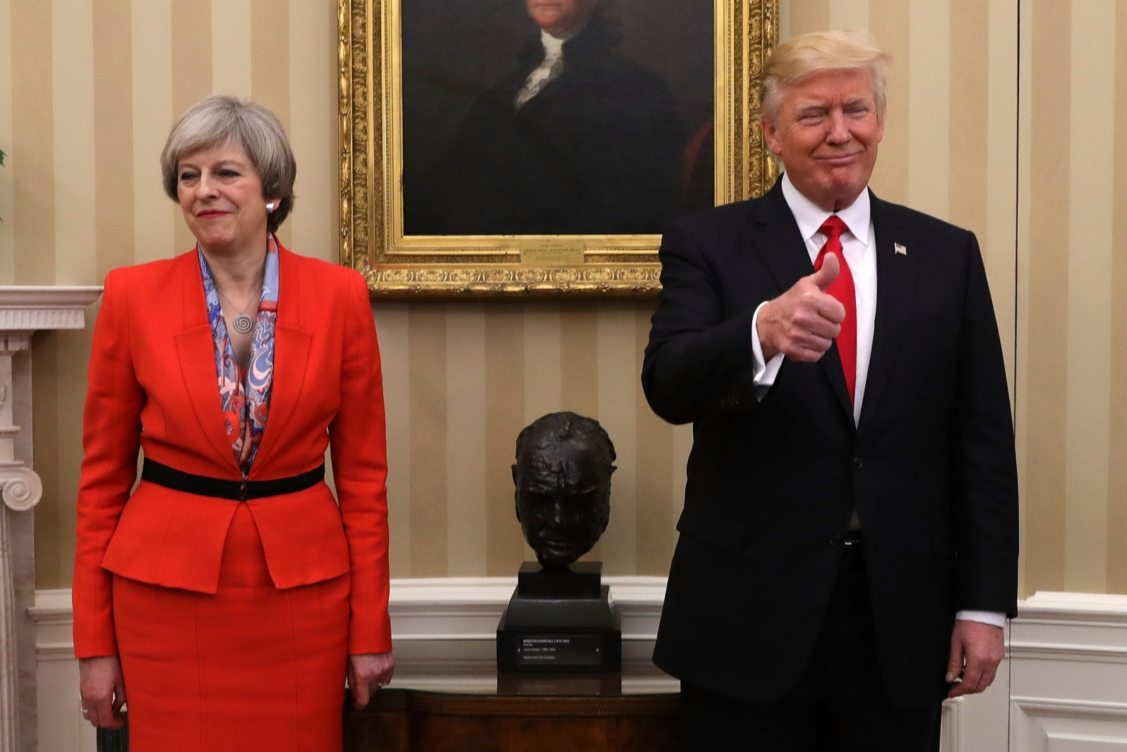 Donald Trump Receives State Visit Invite By Theresa May