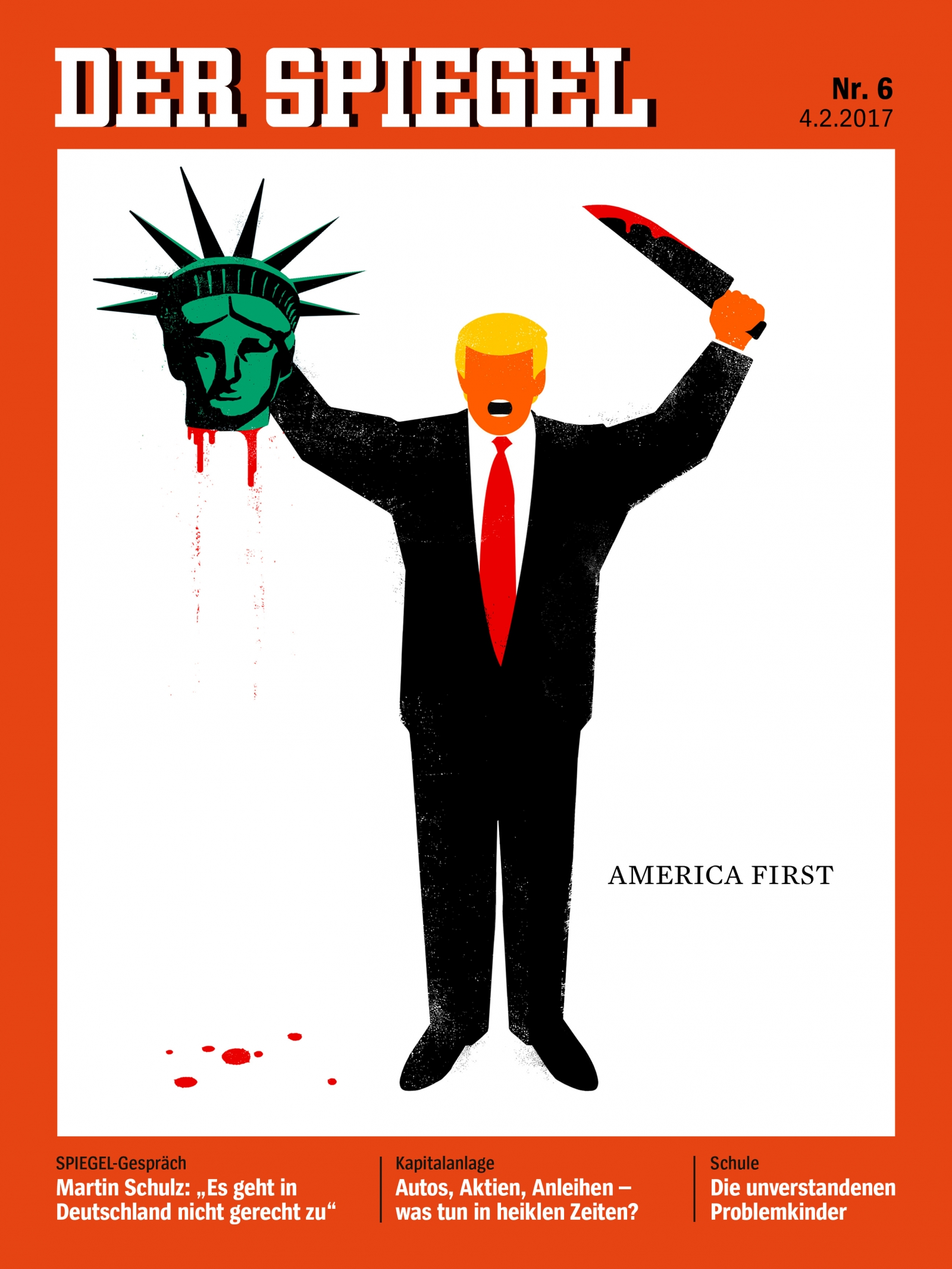 German magazine der spiegel defends cover of trump for Spiegel magazi