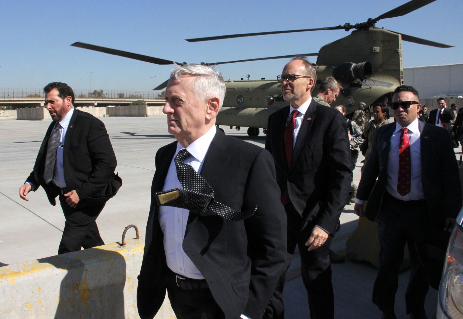 Us Serviceman Dies In Iraq As Defence Secretary Jim Mattis