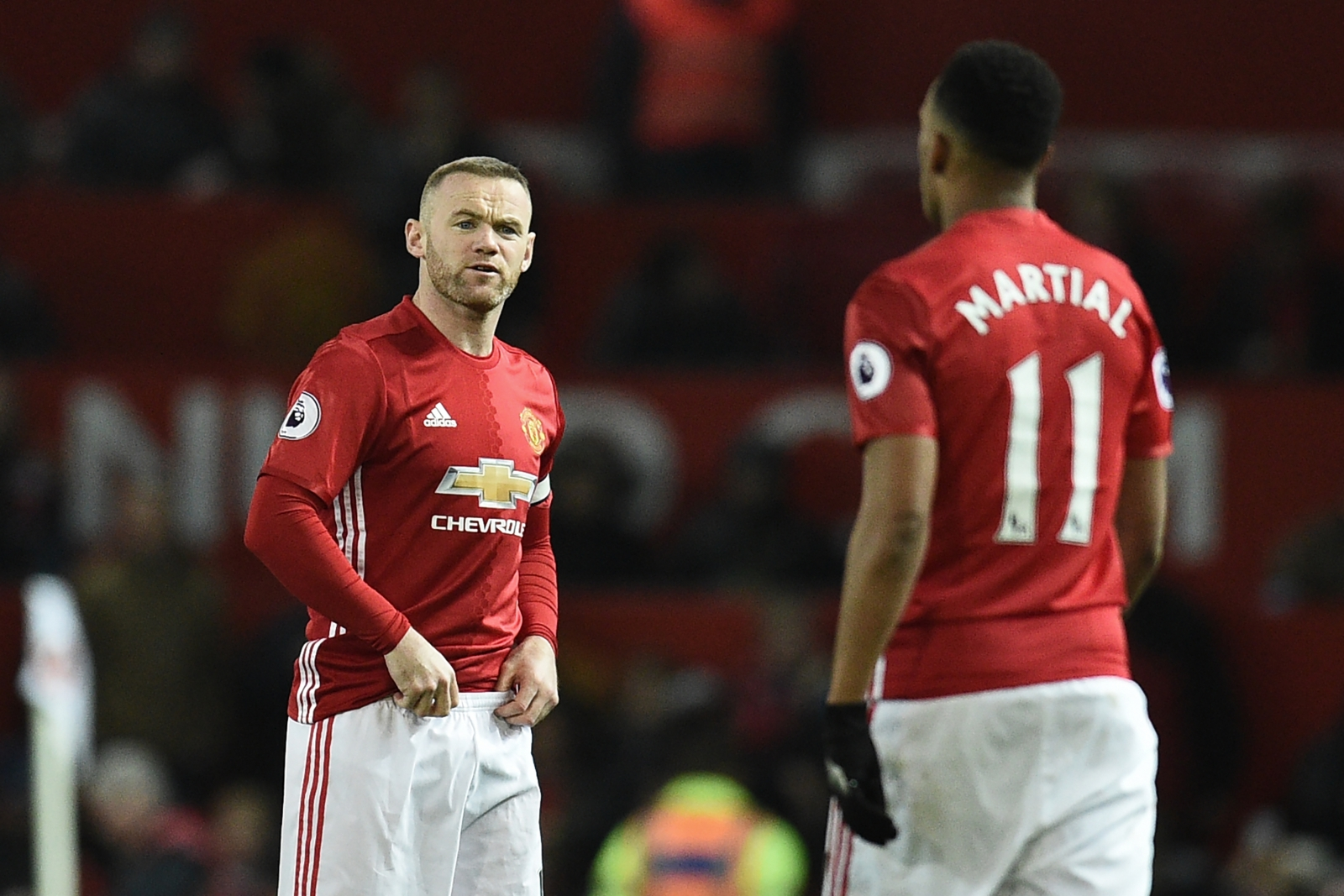 Manchester United duo Wayne Rooney and Anthony Martial ruled out
