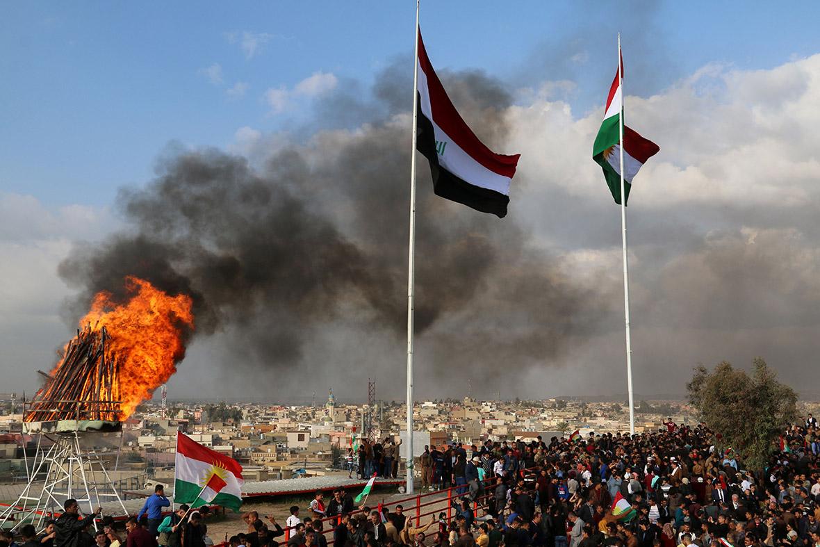 peshmerga accuses iraqi army of advancing to retake kirkuk