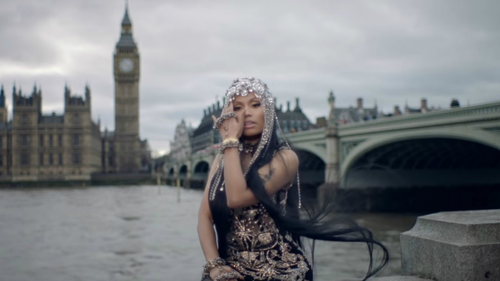 Outrage as Nicki Minaj No Frauds music video features Westminster Bridge scenes