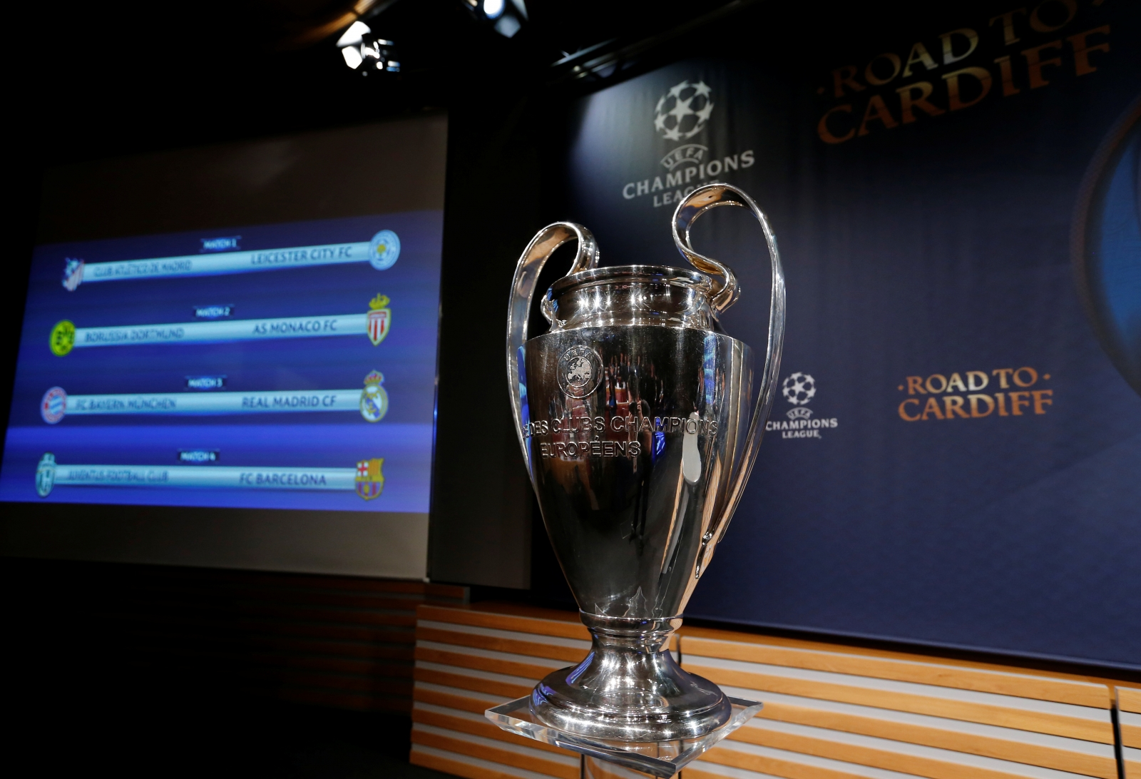 Uefa Champions League Semi Final Draw Madrid Rivals To