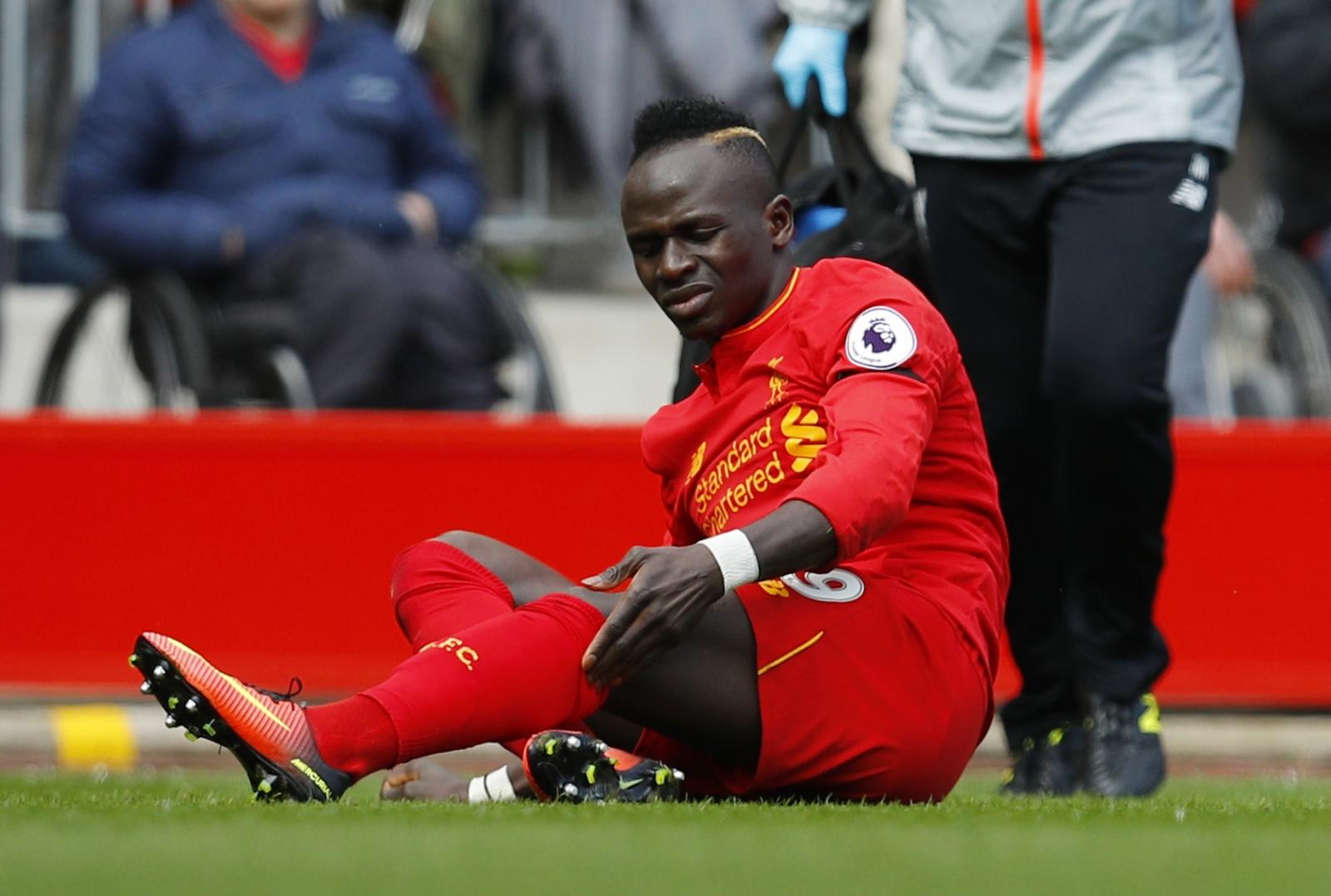 liverpool forward sadio mane provides positive injury