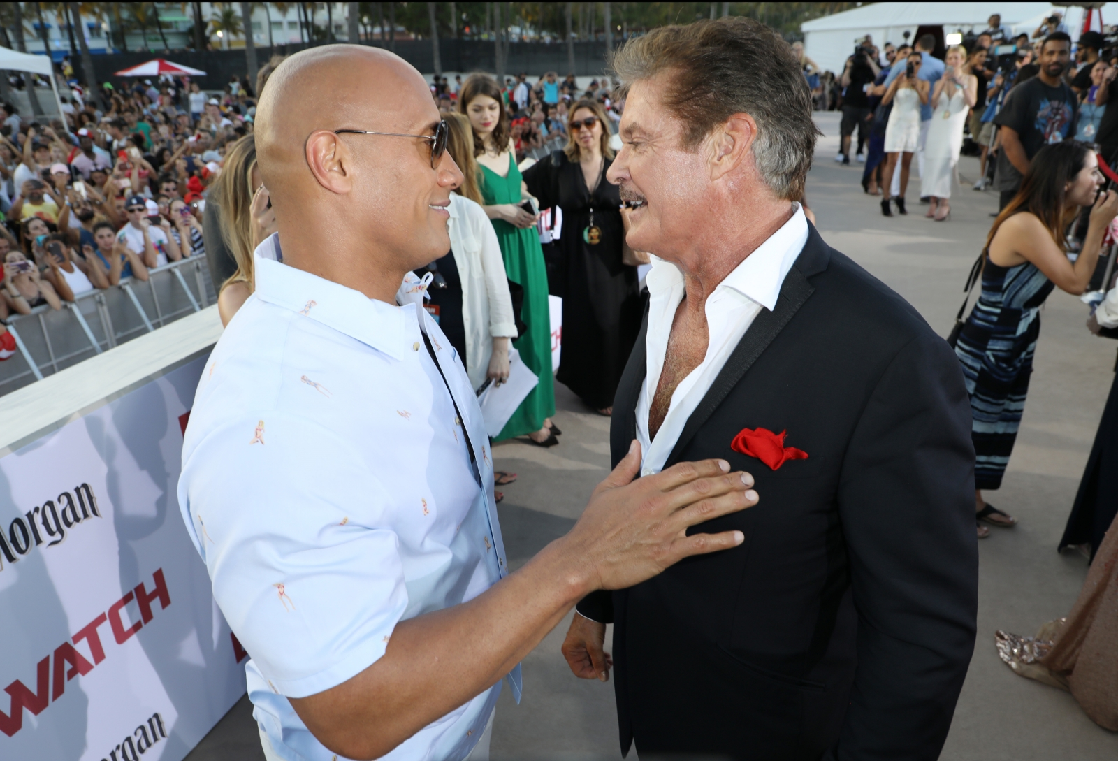 The Hoff slams Dwayne Johnson's movie: 'It's still not Baywatch'