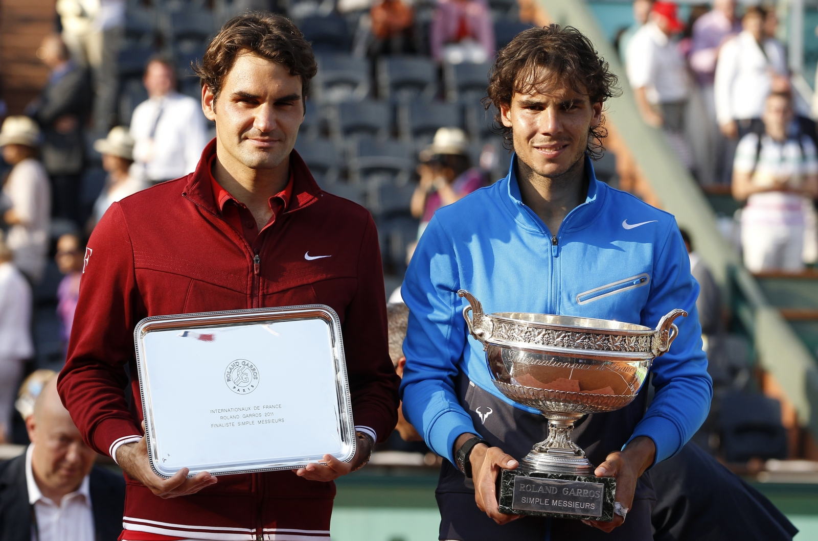 image Roger federer and rafael nadal share the trophy