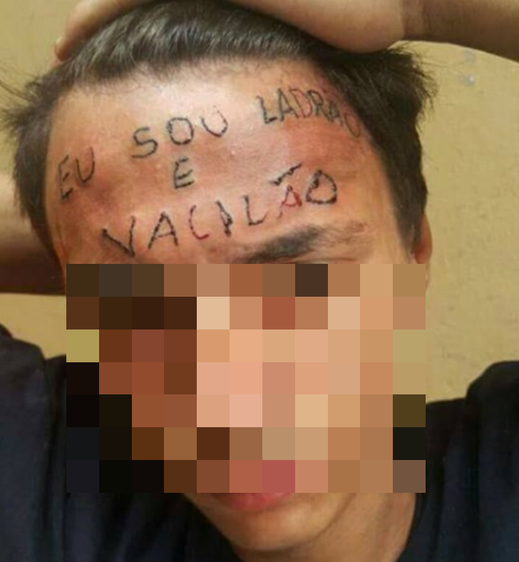 Brazilian men accused of torturing boy by tattooing 39 i am for Full head tattoo