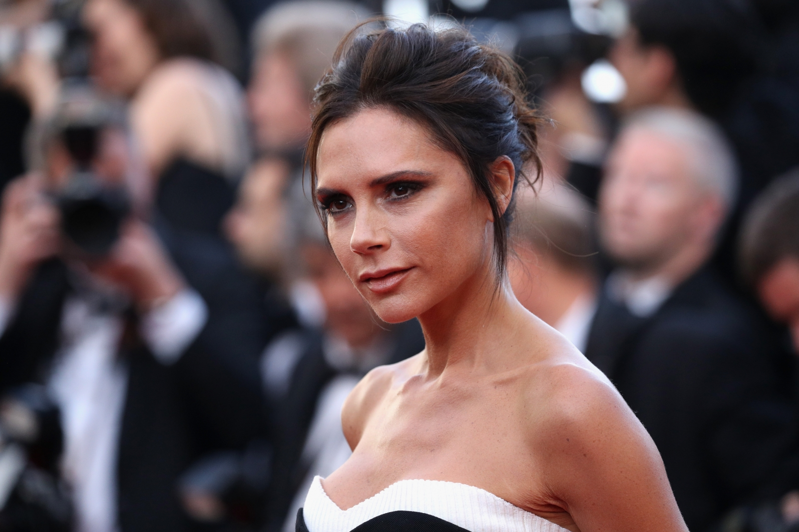 Victoria Beckham shares rare breast implant-free photo posing in black lingerie