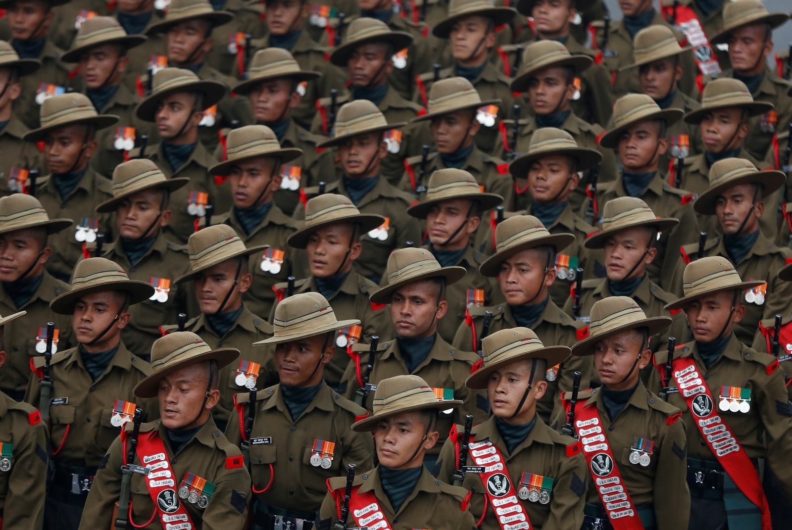 India and China deploy thousands of troops near restive