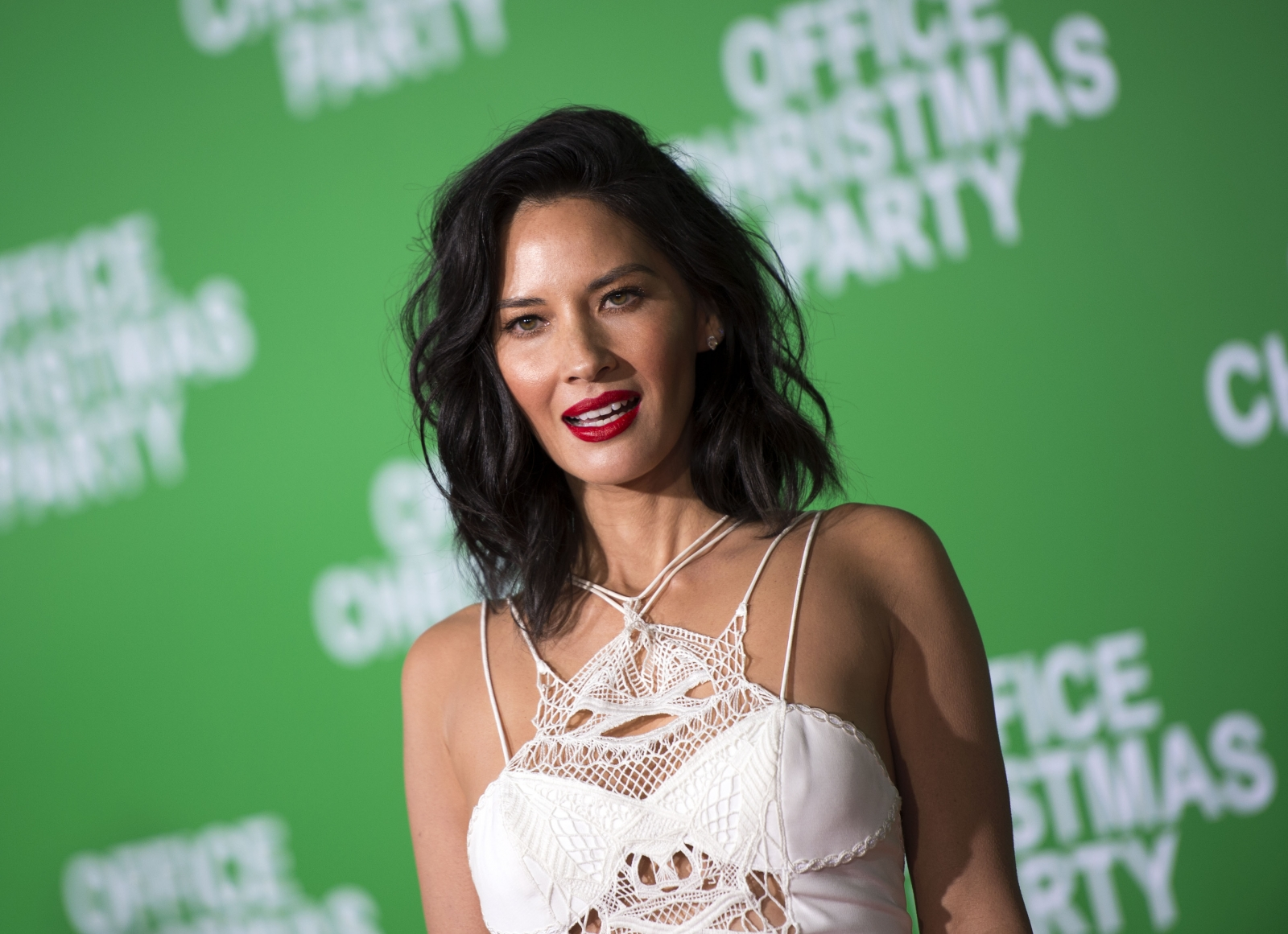 Too hot to handle: Aaron Rodgers' ex Olivia Munn flashes underwear in mini dress