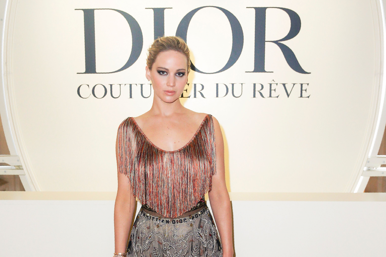 Braless Jennifer Lawrence suffers wardrobe malfunction in see-through dress