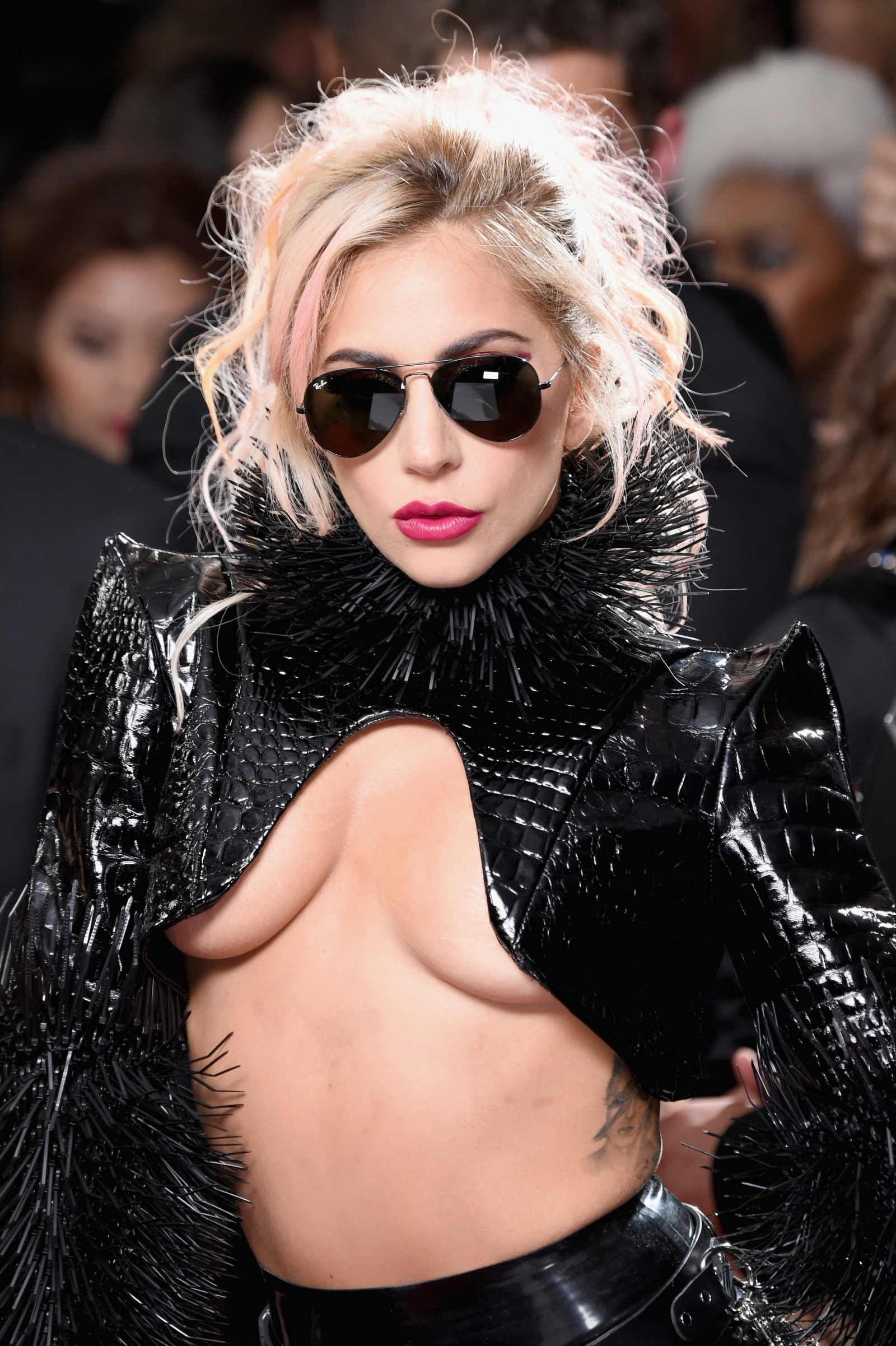 Braless Lady Gaga suffers embarrassing wardrobe malfunction in see-through bodysuit