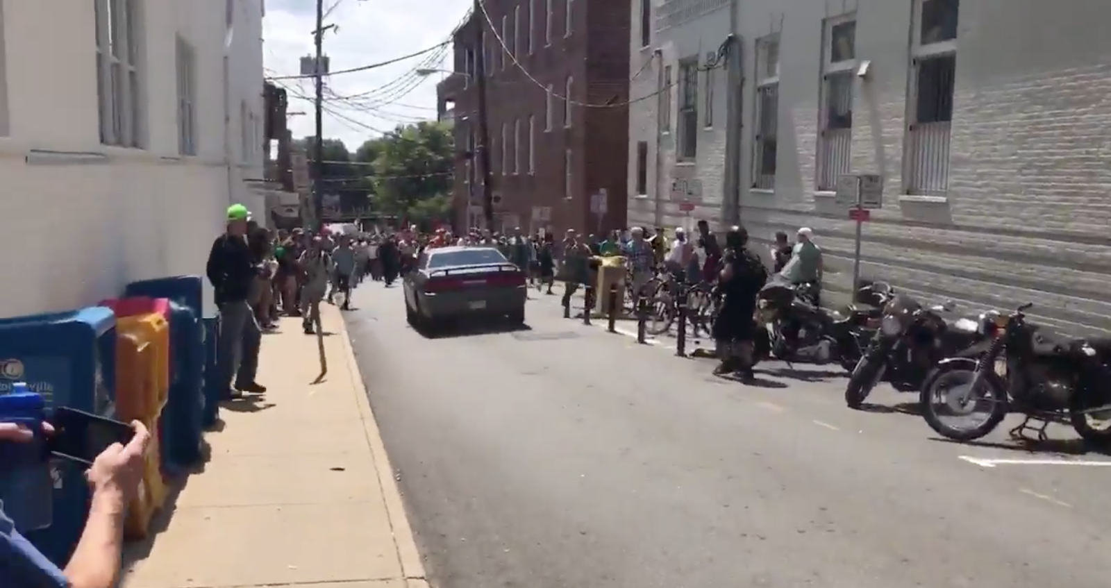 Charlottesville rally: 1 person confirmed dead as car driven by white supremacist ploughs into crowd