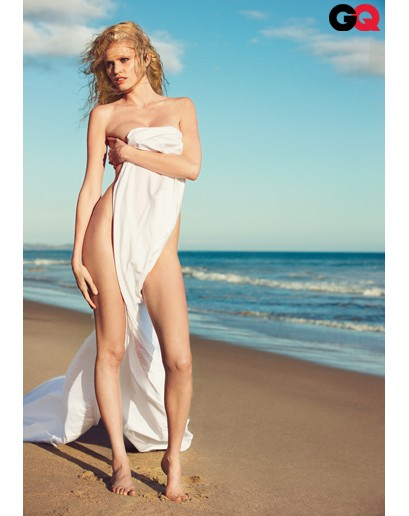 Lara Stones Sexy Near Nude Cover Shoot for GQ Magazine