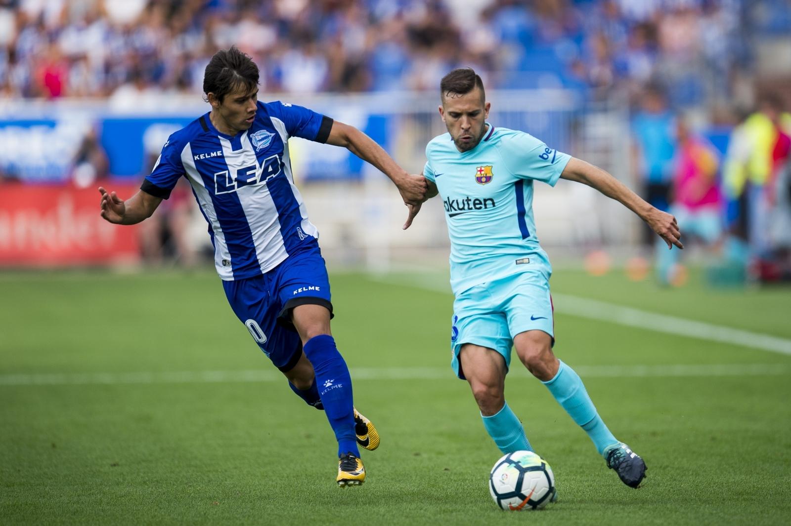 Jordi Alba and Lionel Messi return to Barcelona training ahead of