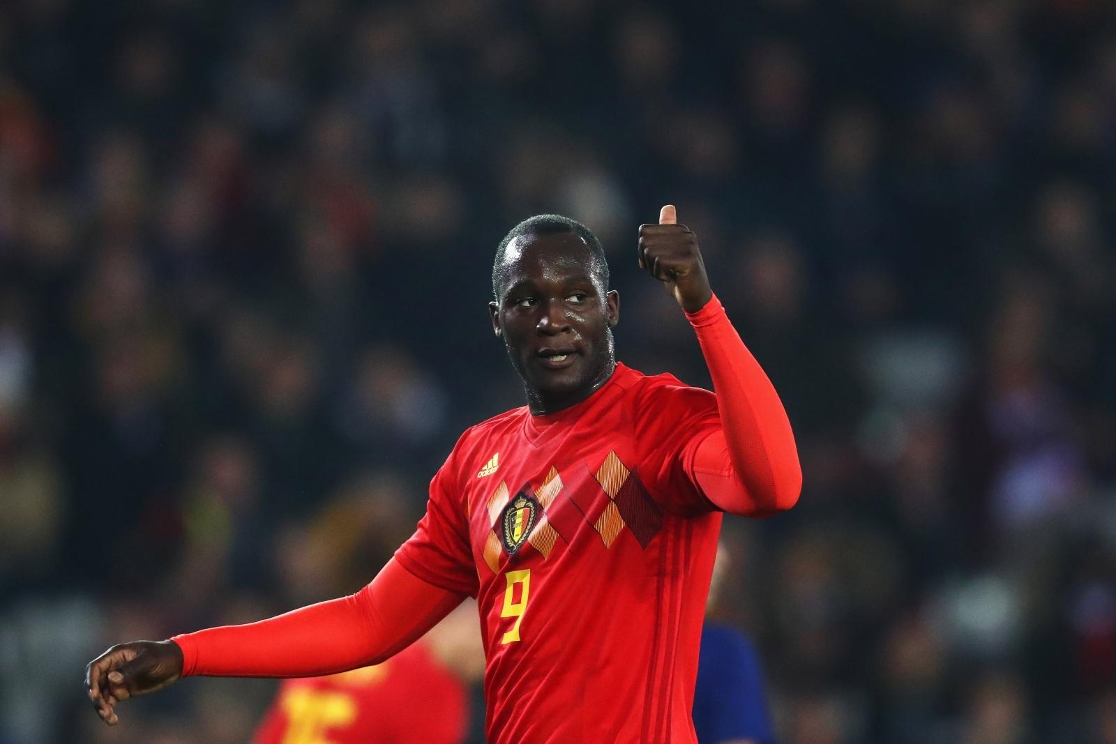 Romelu Lukaku Manchester United striker be es Belgium s all