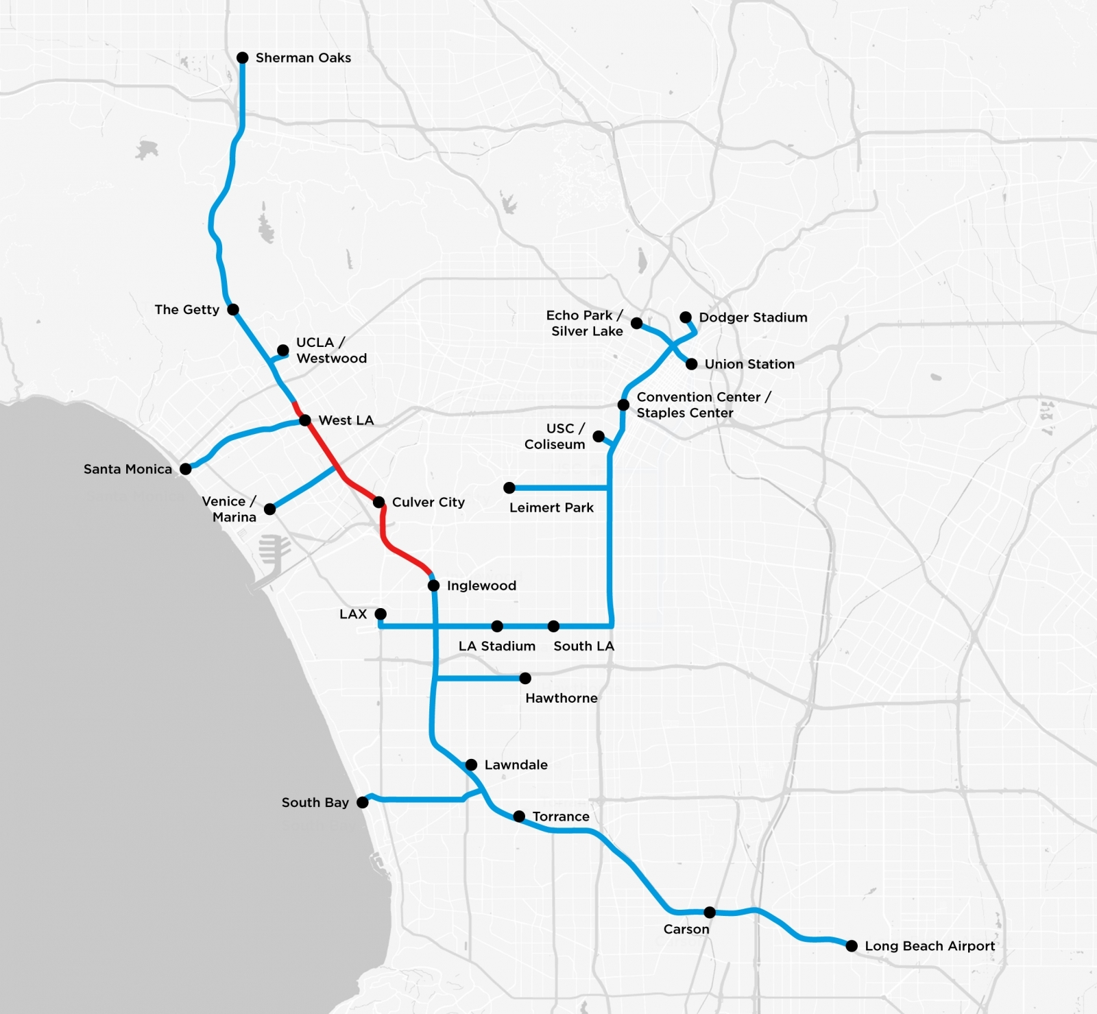 Elon musk just released a map of the boring tunnels that for Innovation firm los angeles
