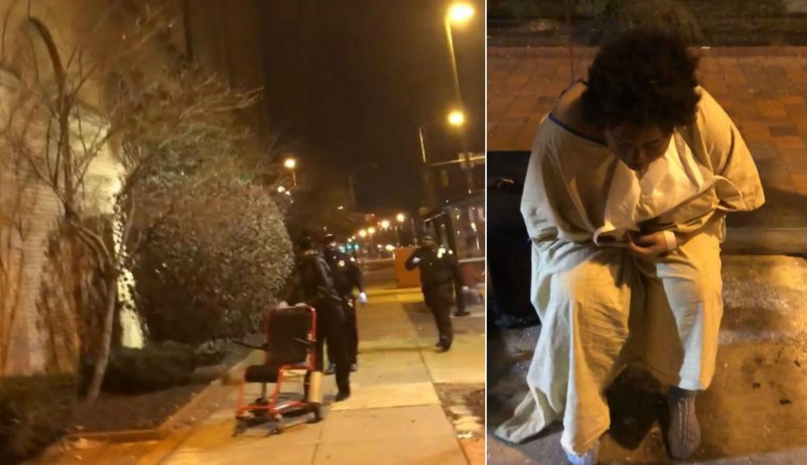 Baltimore hospital guards dump patient on freezing street