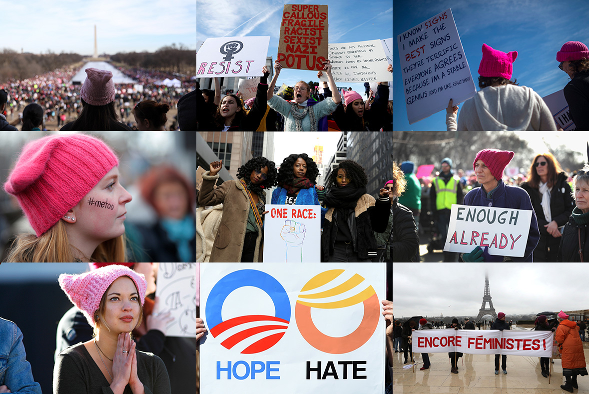 Time's up: 60 great photos from women's marches around the world