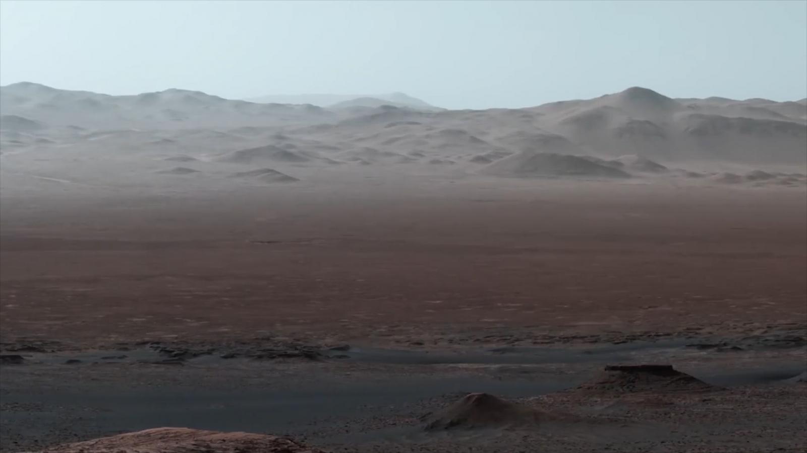 Watch Nasa's epic panoramic vista showcasing Mars