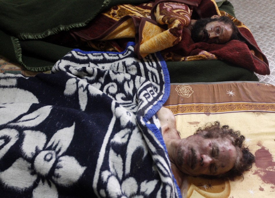 Dead Body Pictures Of Celebrities Dead bodies of gaddafi and his