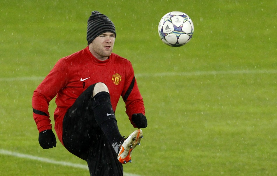 Wayne Rooney Kicking A Ball