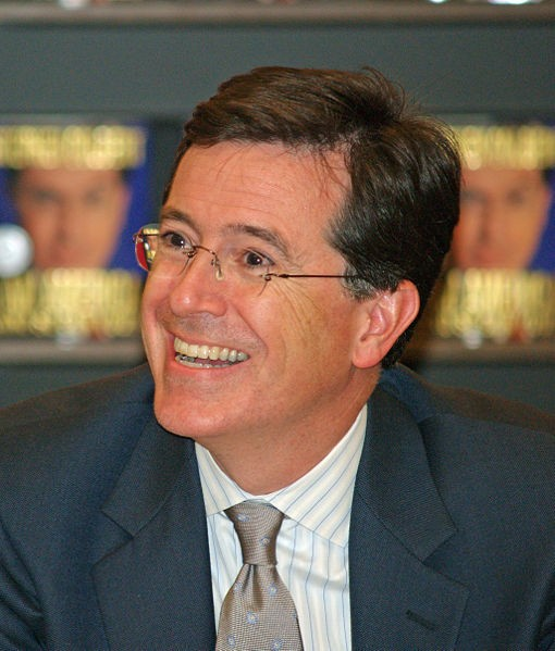 Comedian and host of the colbert report stephen colbert made number