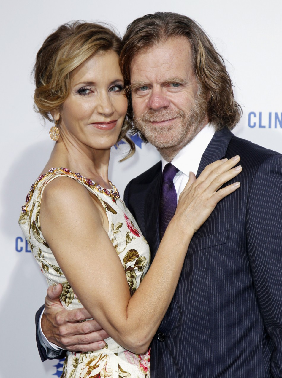 William H. Macy with gracious, endearing, friendly, Wife Felicity Huffman