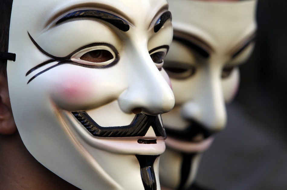 Million mask march met police ban masks at anonymous protest designed to bring london to gridlock - Pictures of anonymous mask ...