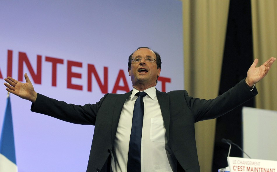 Francois hollande wins first round in french election