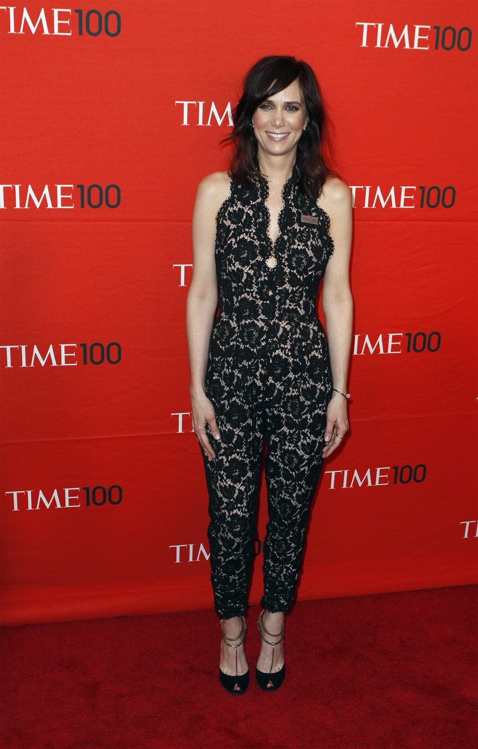 Actress Kristen Wiig arrives to be honored at the Time 100 Gala in New York