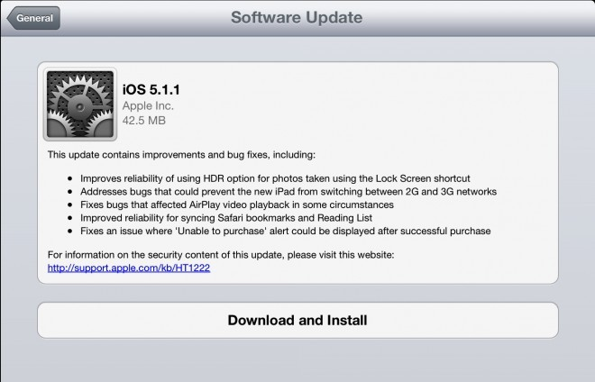 iOS 5.1.1 Update Security Flaws