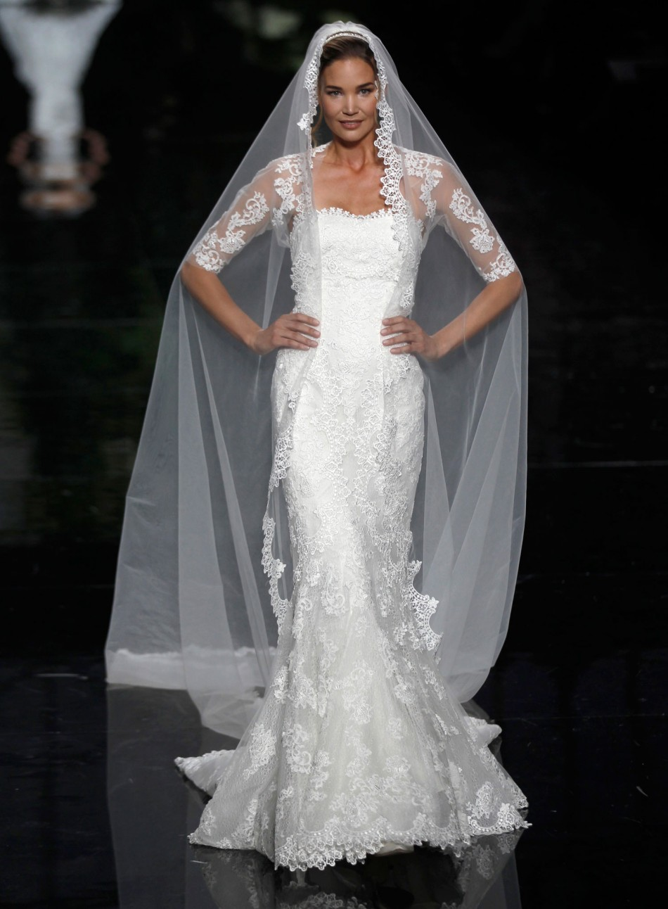 Elie saab for pronovias sumptuous gowns displayed at for Wedding dresses in barcelona spain